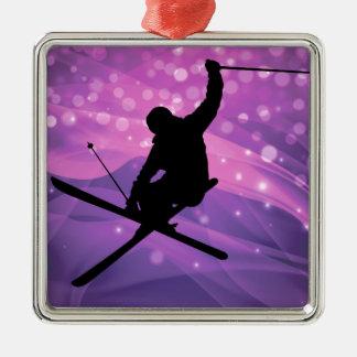 Ski Jump Metal Ornament