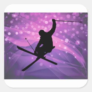 Ski Jump Square Sticker