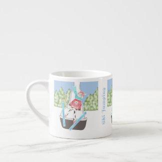 Ski jumping espresso mug