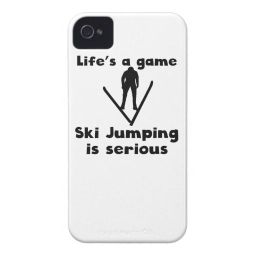 Ski Jumping Is Serious iPhone 4 Case-Mate Cases