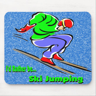 Ski Jumping Mouse Pads