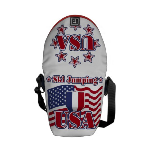 Ski Jumping USA Courier Bags