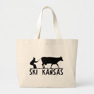 Ski Kansas Jumbo Tote Bag