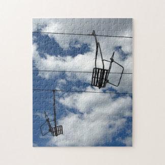 Ski Lift and Sky Jigsaw Puzzle