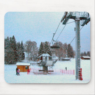 Ski lift mouse pad