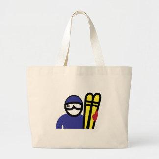 Ski Man Tote Bags