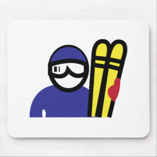 Ski Man Mousepads