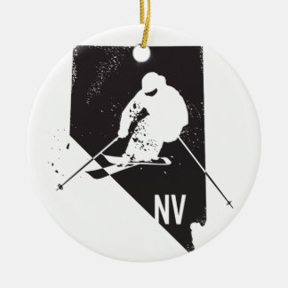 Ski Nevada Ceramic Ornament