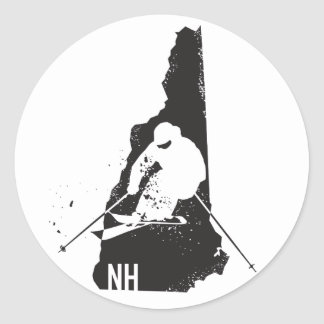 Ski New Hampshire Classic Round Sticker