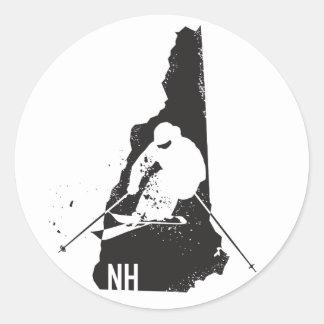 Ski New Hampshire Round Sticker