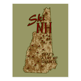Ski NH Postcard