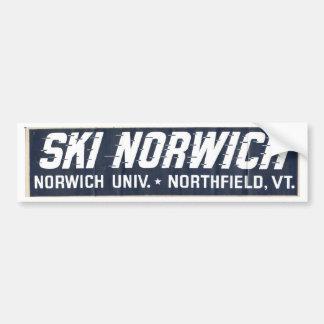 ski norwich bumper sticker