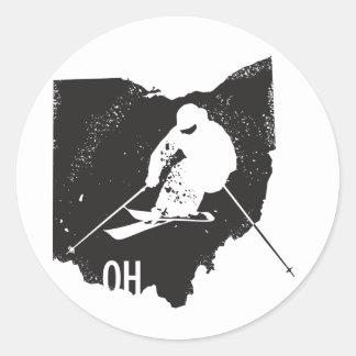 Ski Ohio Round Sticker