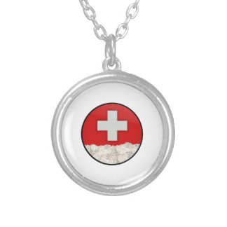 Ski Patrol Silver Plated Necklace