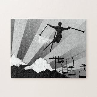 ski powder trail jigsaw puzzle