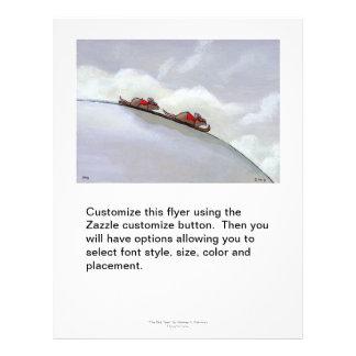 Ski racing rats fun uique art skiing rat painting flyer design