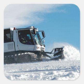 Ski Resort Square Sticker