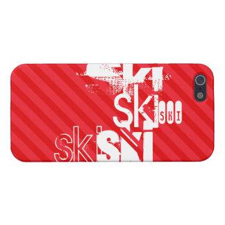 Ski; Scarlet Red Stripes iPhone 5/5S Case