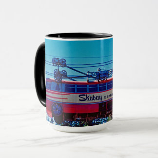 Ski Skiway Timberline Lodge Mt Hood Oregon 1950's Mug