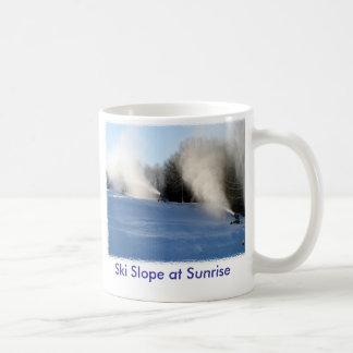 Ski Slope at Sunrise Coffee Mug