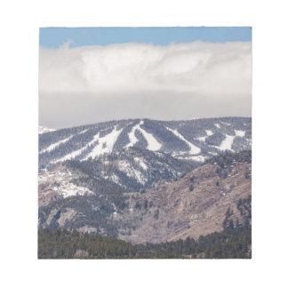 Ski Slope Dreaming Notepad