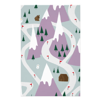Ski slopes customised stationery