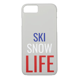 Ski, Snow, Life iPhone 7/8 Case