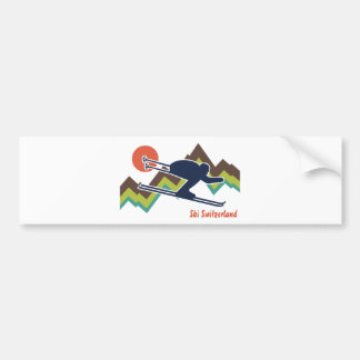 Ski Switzerland Bumper Sticker