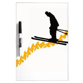 Ski the People Dry Erase Board