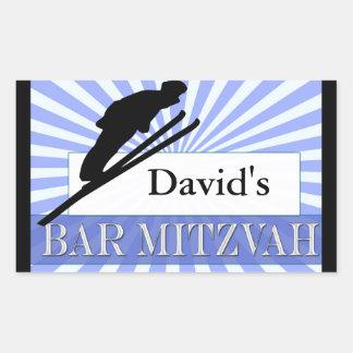 Ski theme Bar Mitzvah Stickers