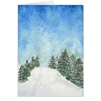 Ski Trail Holiday Card