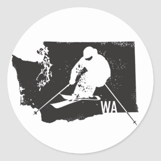 Ski Washington Classic Round Sticker