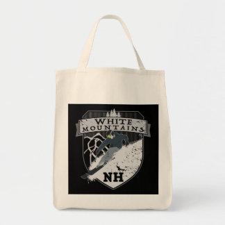 Ski White Mountains, NH Grocery Tote Bag