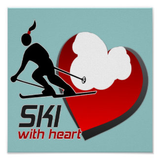 SKI WITH HEART POSTER