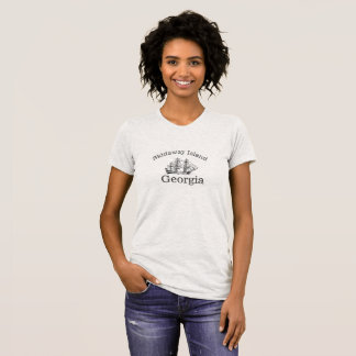 Skidaway Island Georgia Tall Ship TShirt for women