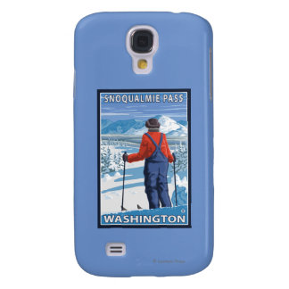 Skier Admiring - Snoqualmie Pass, Washington Samsung Galaxy S4 Cover