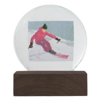 Skier Art Snow Globes