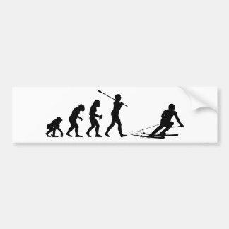 Skier Bumper Sticker