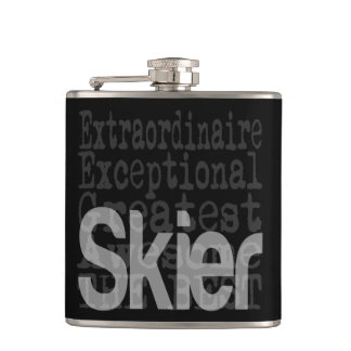 Skier Extraordinaire Hip Flask