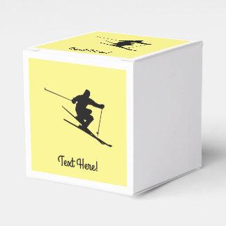 Skier Favour Box