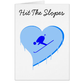 Skier Ice Heart, Hit The Slopes Card