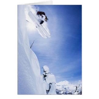 Skier Jumping Card