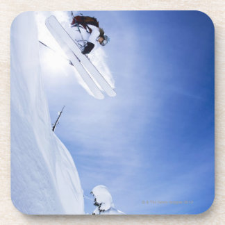 Skier Jumping Drink Coaster