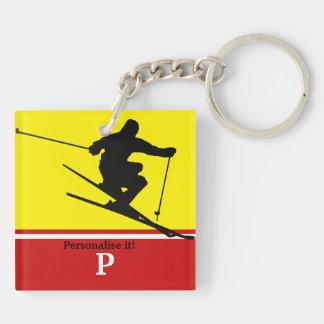 Skier Key Ring