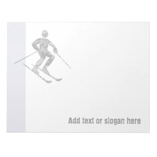 Skier Logo and Slogan Notepads