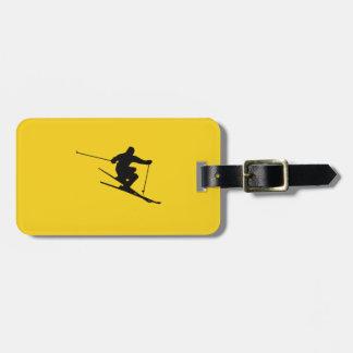 Skier Luggage Tag