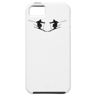 Skier Mirror Image iPhone 5/5S Cases