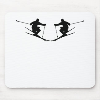 Skier Mirror Image Mouse Pads