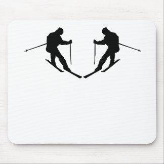 Skier Mirror Image Mousepad