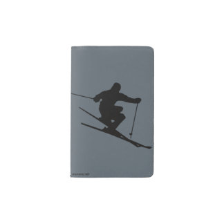 Skier Pocket Moleskine Notebook